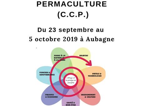 COURS CERTIFIE DE PERMACULTURE (CCP) du 23 septembre au 5 octobre 2019