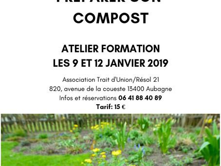 Atelier Pratique PREPARER SON COMPOST les 9 et 12 janvier 2019