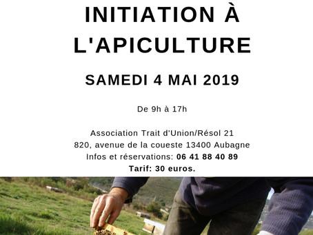 """Atelier """"Initiation à l'apiculture"""" le 4 mai 2019"""