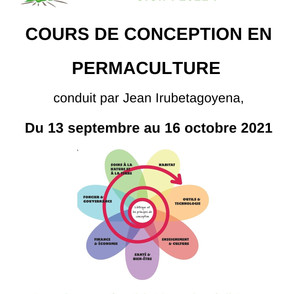 FORMATION COURS DE CONCEPTION EN PERMACULTURE 2021