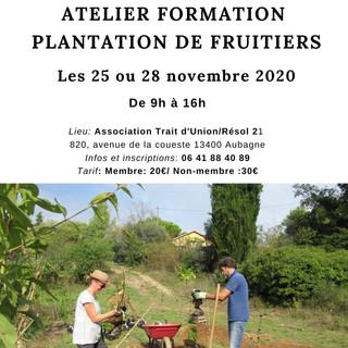 Atelier formation Plantation de fruitier