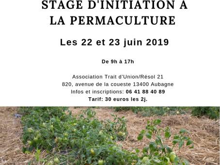 Stage d'INITIATION A LA PERMACULTURE les 22 et 23 JUIN