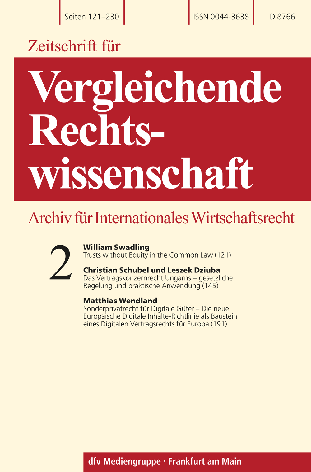 Zeitschrift für Wirtschaftsrecht