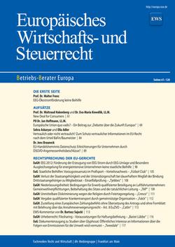 EU Wirtschfts- & Steuerrecht
