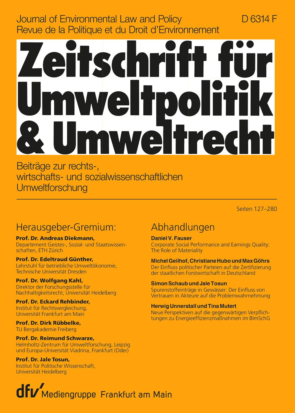 Umweltpolitik & Umweltrecht