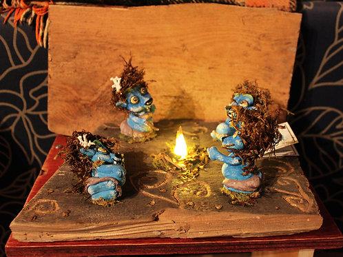 VannTroll Family Lamp bonfire
