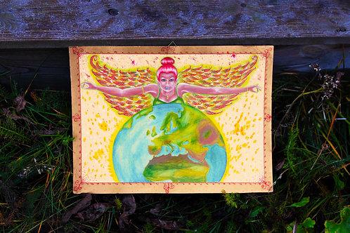 Painting Angel Earth