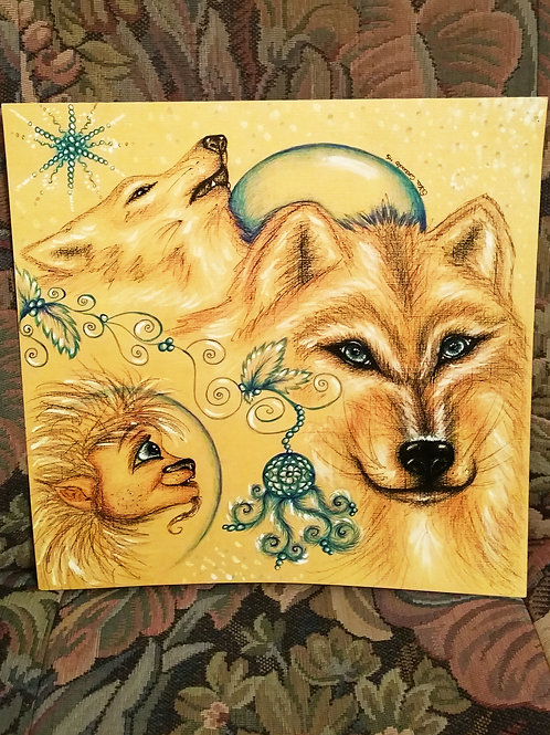 Painting wolf - VannTroll