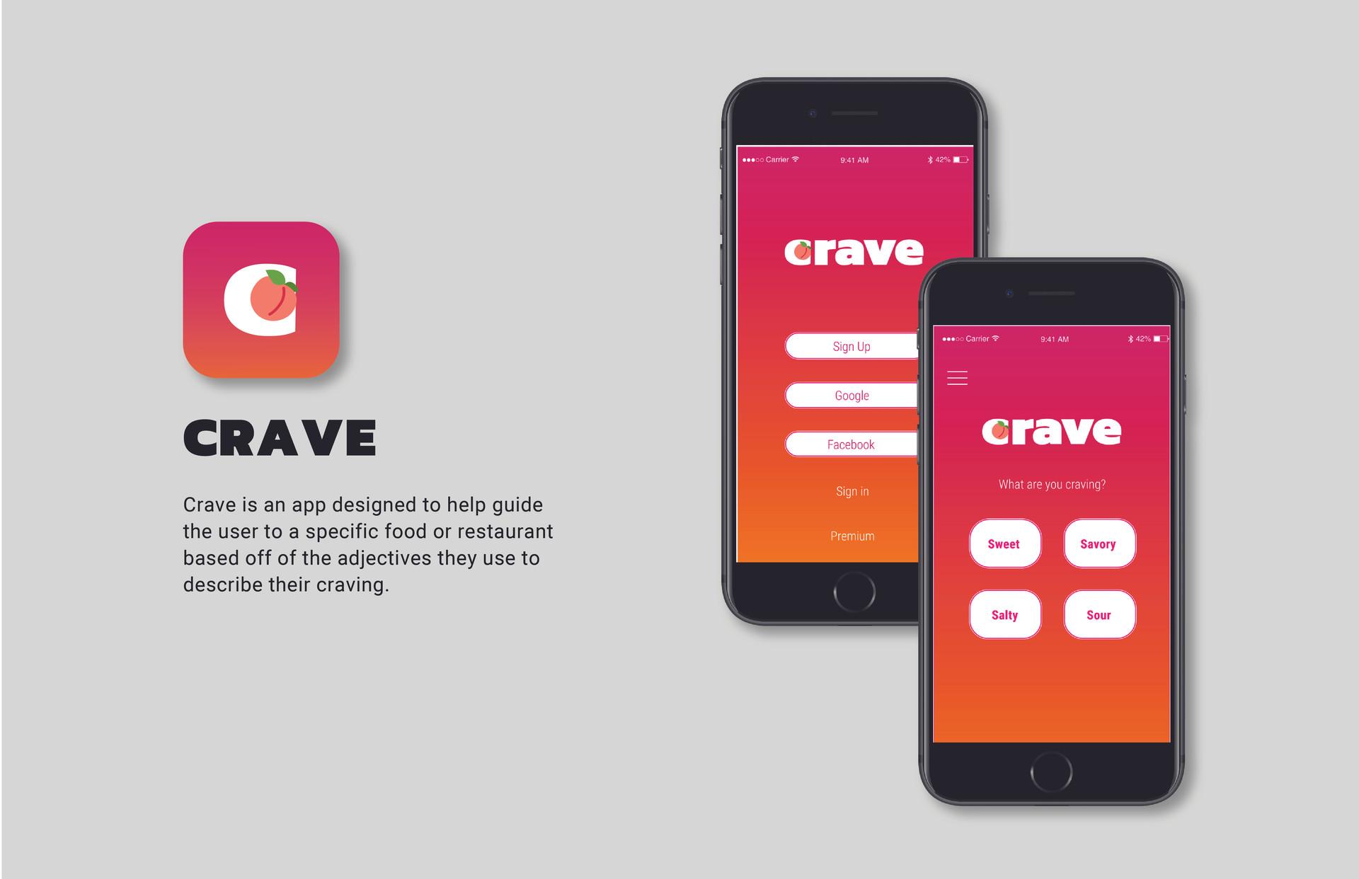 Crave App Design