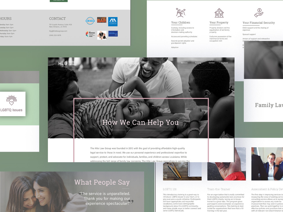Hite Law Group Website Redesign