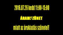 2016.07.26. kedd, áramszünet
