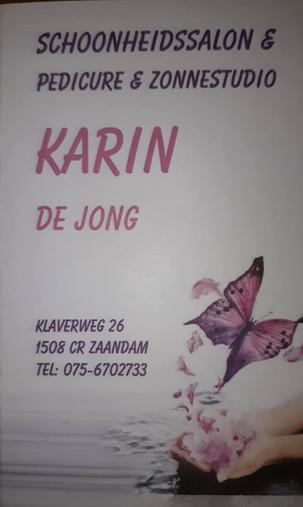 Pedicure Karin de Jong