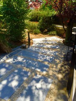 Entrée dalles d'ardoise jarditour