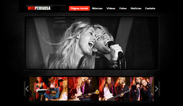 Música website templates – Country Rock