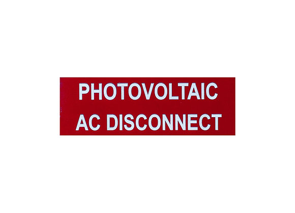 Photovoltaic Label AC Disconnect