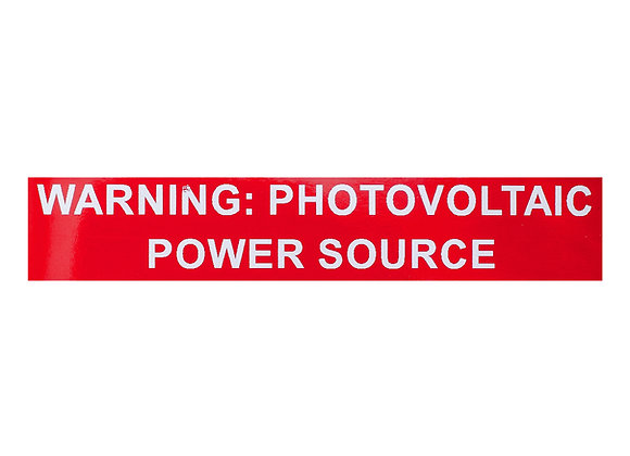reflective warning power source