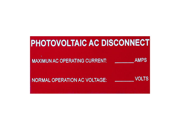 Photovoltaic AC Disconnect
