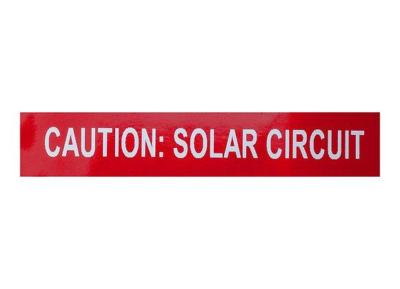 caution: solar circuit conduit label