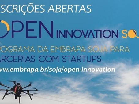 Embrapa seleciona startups para a 3ª edição do Soja Open Innovation