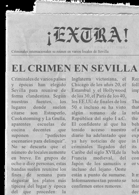 Noticia sobre Cluedo Sevilla