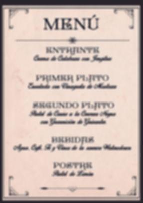 Menú victoriano de Cluedo Sevilla en Estraperlo