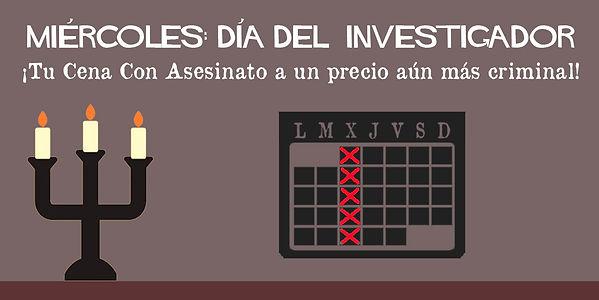 Miércoles, día del investigador de Cluedo Sevilla