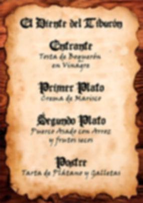 Menú pirata de Cluedo Sevilla en La Grulla