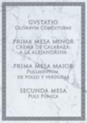 Menú romano de Cluedo Sevilla en Estraperlo