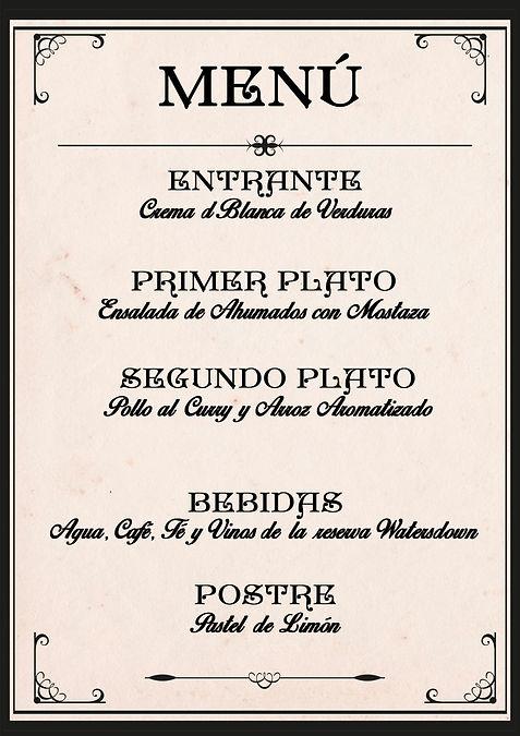 Menú victoriano de Cluedo Sevilla en The Gastromentor