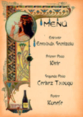 Menú turco de Cluedo Sevilla en La Grulla