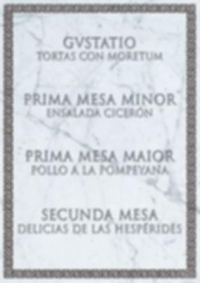 Menú romano de Cluedo Sevilla en The Gastromentor