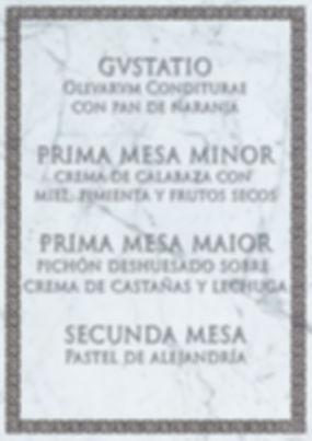 Menú romano de Cluedo Sevilla en La Grulla