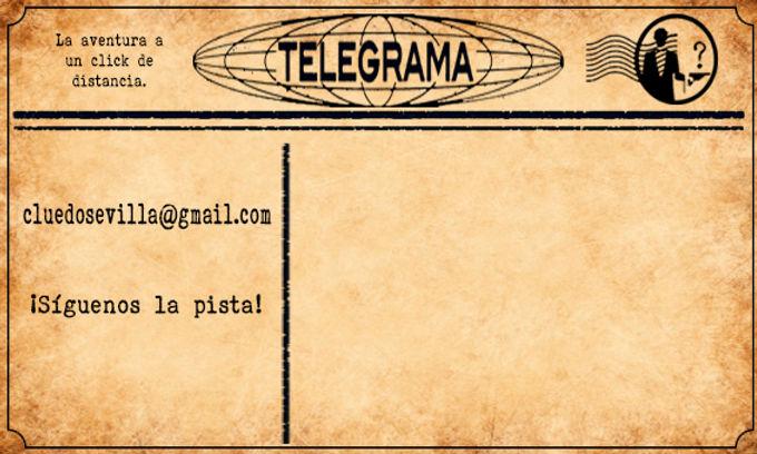 Telegrama para contactarcon Cluedo Sevilla