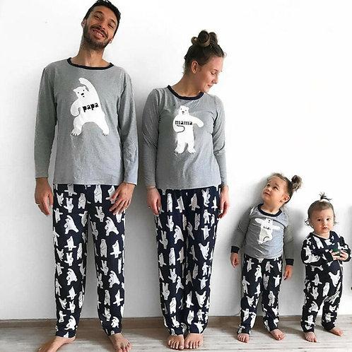 Hot New Family Matching Outfits Cartoon Bear Pajamas