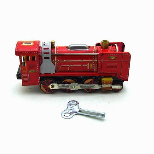 Simulation Locomotive Wind Up Tin Toys Classic Children's Toy Collection