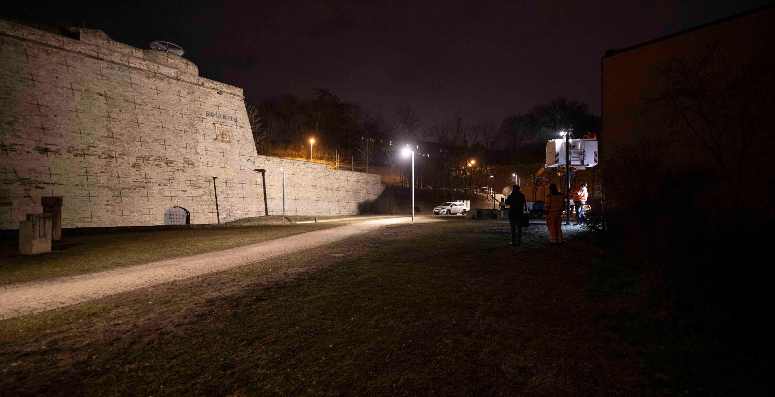 Gut 70 Meter ist die Bastionsmauer lang.