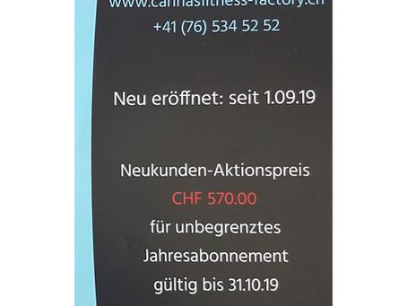 Neukunden Aktionspreis, für unbegrenztes Jahresabonnement CHF 570.00 bis 31.10.19
