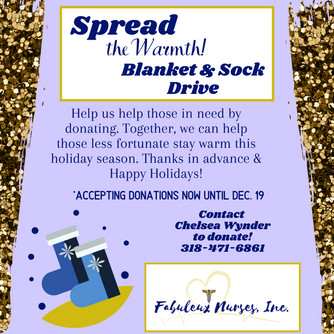 First Annual Blanket & Sock Drive 2019