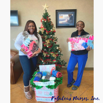 Presenting donations to the Shreveport Rescue Mission