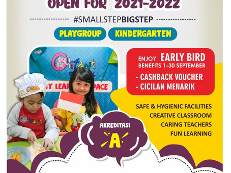 ADMISSION OPEN FOR 2021-2022 - PRESCHOOL