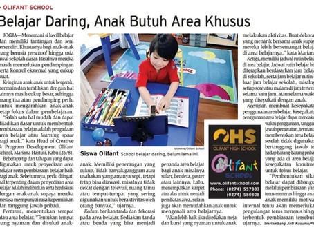 Belajar Daring, Anak Butuh Area Khusus
