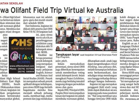 Siswa Olifant Fieldtrip Virtual ke Australia