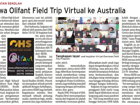 Siswa Olifant Fieldtrip Virtual ke Australia