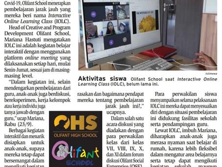 Pembelajaran Interactive Online Learning Class ala Olifant School