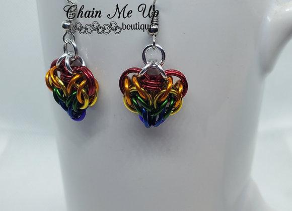 Heart Earrings -Rainbow