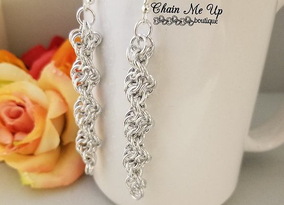 DNA Silver Earrings