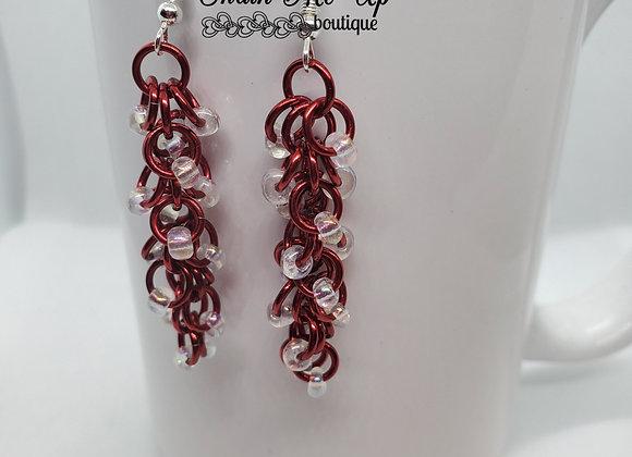 Shaggy Red Earrings