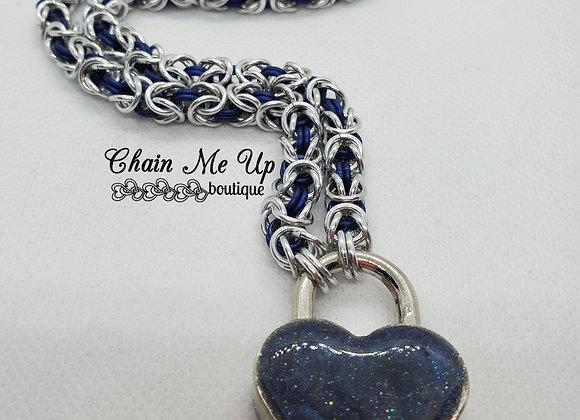 Locking Heart Collar -Black