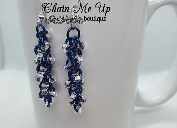 Shaggy Blue Earrings