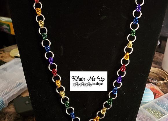Rainbow Linked Necklace